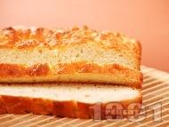 Прясна обикновена домашна питка със сода за хляб и без сирене за Коледа